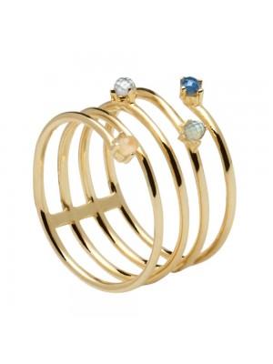 PDPAOLA anillo Ultramarine Gold