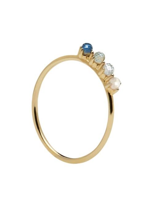 P D Paola anillo Cobalt Gold