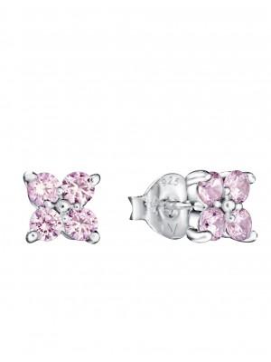 Viceroy pendientes para niña Trend en plata y circonitas rosas