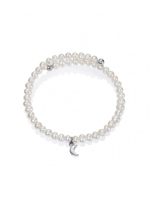 Viceroy pulsera para niña Jewels en plata y perlas semirigida