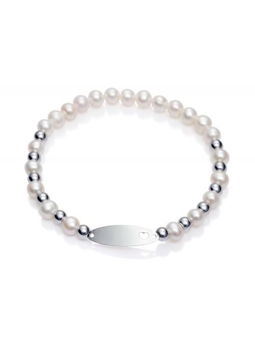 Viceroy pulsera para niña Sweet en plata y perlas elástica