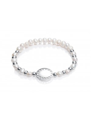 Viceroy pulsera para niña Sweet en plata con chapa y perlas