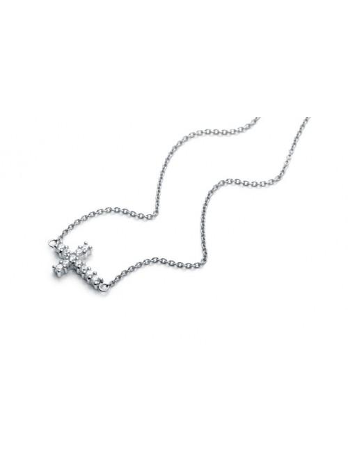 Viceroy collar para mujer Jewels en plata cruz con circonitas