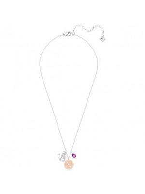 Swarovski colgante Zodiac, Capricornio, violeta, baño de rodio