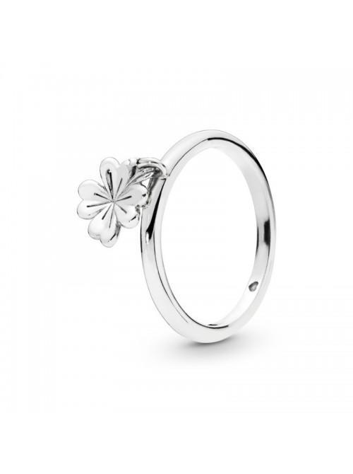 Pandora anillo en plata de Ley Trébol Colgante