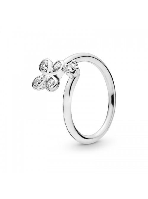 Pandora anillo en plata de Ley Trébol de cuatro pétalos