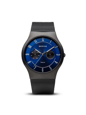 Bering Titanium Collection negro cepillado