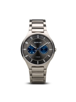 Bering Titanium Collection plata cepillado