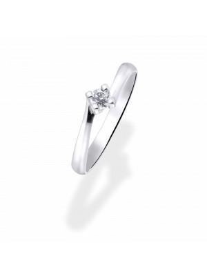 Solitario Aurum de Duran Exquse en oro blanco de 18K y diamante