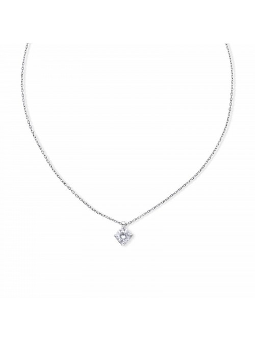 Colgante Aurum de Duran Exquse en oro blanco 18K, 4 garras diamante