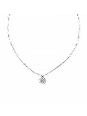 Colgante Aurum de Duran Exquse en oro blanco 18K, chatón diamante