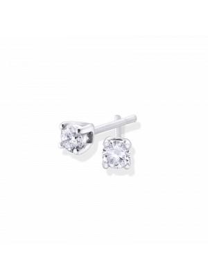 Pendientes Aurum diamantes en garra de Duran Exquse de oro blanco 18K