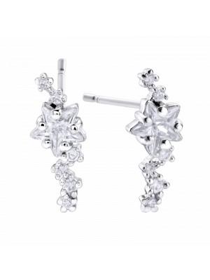 Pendientes Pretty Jewels Estrellas en cascada en plata de Duran Exquse