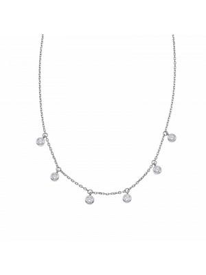 Gargantilla Pretty Jewels Seis Chatones y plata de Duran Exquse