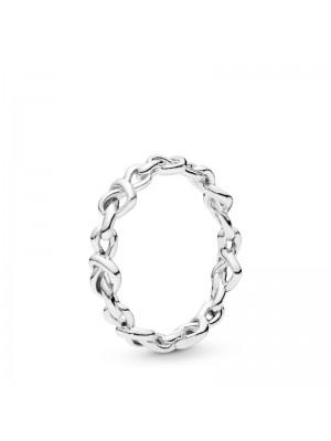 Pandora anillo Corazones anudados en plata de ley