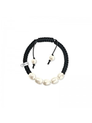 Thomas Sabo, pulsera charm de nylon con perlas