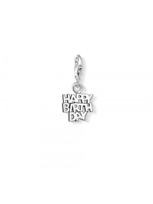 Thomas Sabo, charm Happy Birthday en Plata de Ley