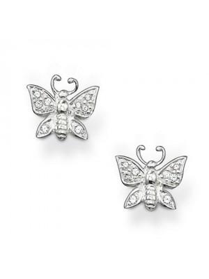 Thomas Sabo, pendientes mariposa en plata y circonitas
