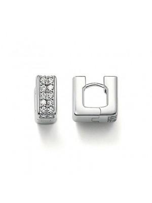 Thomas Sabo, pendientes cuadrados plata y circonitas