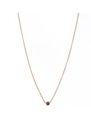 Alisia, collar Elenoire, en plata rosé y agatha