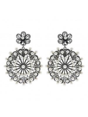 Victorio y Lucchino, pendientes Circo de filigrana en plata y perlas