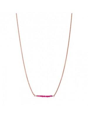 Alisia, collar Charonne en plata de ley color oro y piedras en linea