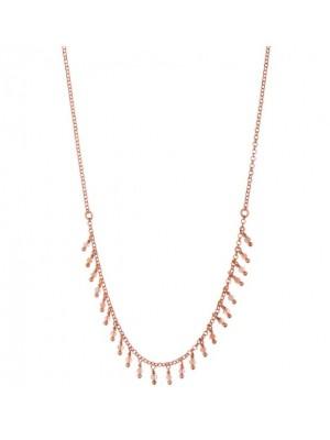 Alisia, collar Le Marais en plata de ley color oro y rodocrosita