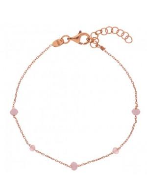 Alisia, pulsera Crystal Bead en plata de ley dorada y cristal de color