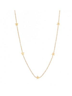 Alisia, collar Astro en plata de ley bañada en oro