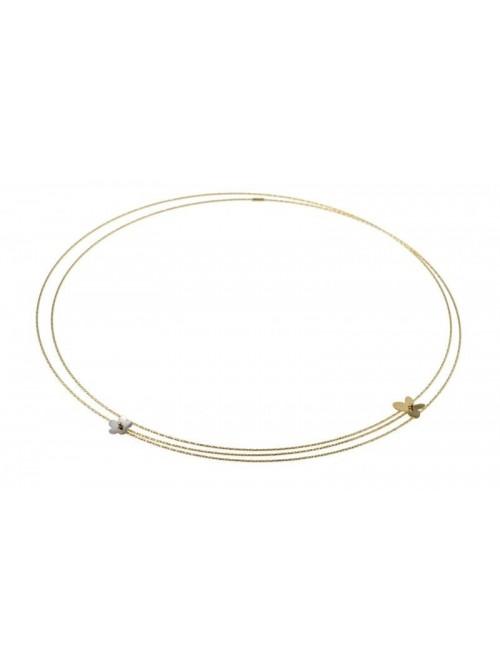 MagicWire, collar Margherita, en oro amarillo y titanio