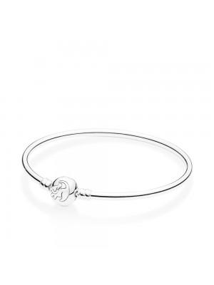 Pandora pulsera Simba en plata de ley con circonita dorada