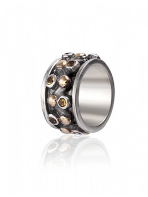 Styliano anillo de plata y oro anti estrés