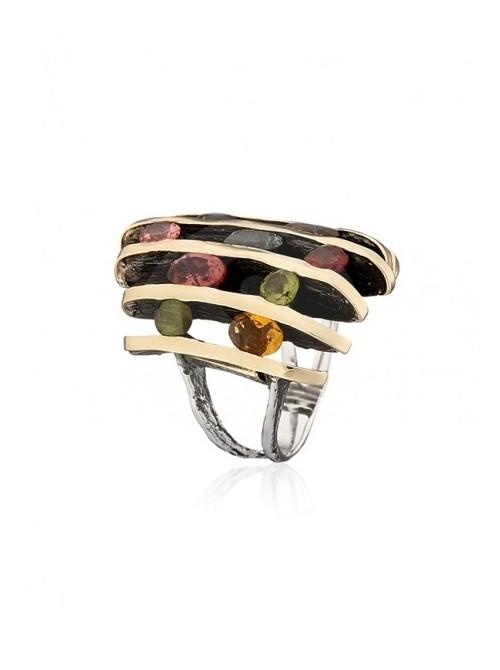 Styliano anillo de Turmalinas