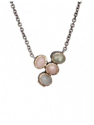 Styliano collar de Berilos en plata y oro