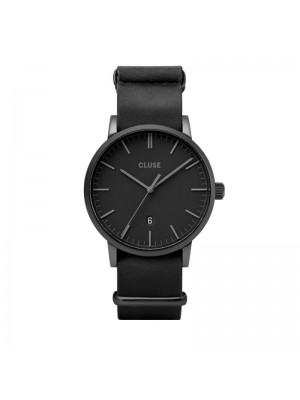 Cluse Aravis nato leather black, black/black