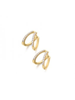 LeCarré pendientes Aros dobles de Oro y Diamantes