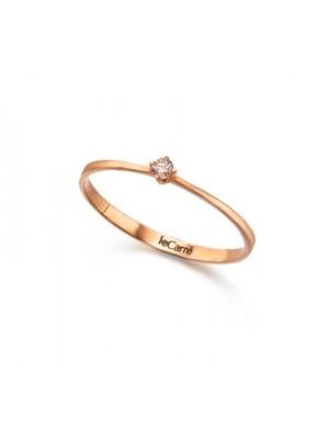 LeCarré anillo Oro Rosa Diamante
