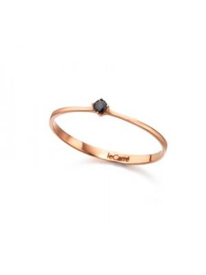 LeCarré anillo Oro Rosa Diamante Black