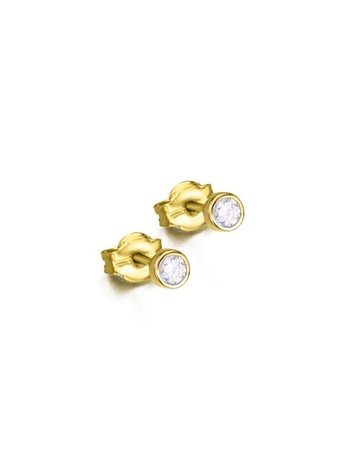 LeCarré pendientes de Oro con Diamantes talla brillante de 0,10 quilates