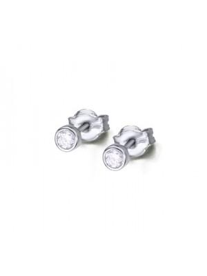LeCarré pendientes de Oro Blanco con Diamantes talla brillante de 0,10 quilates