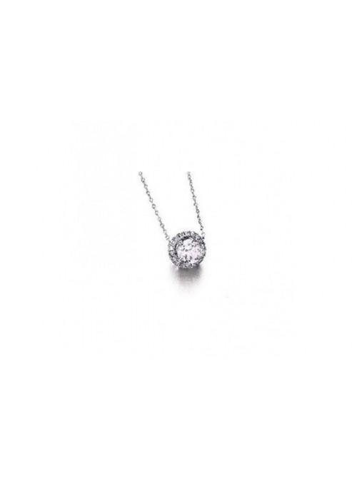 LeCarré cadena de oro blanco con topacio y diamantes