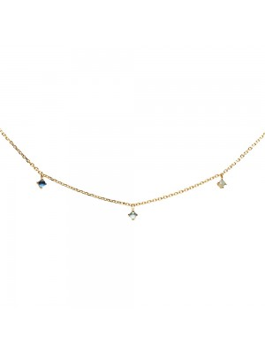P D Paola Collar Navy Gold