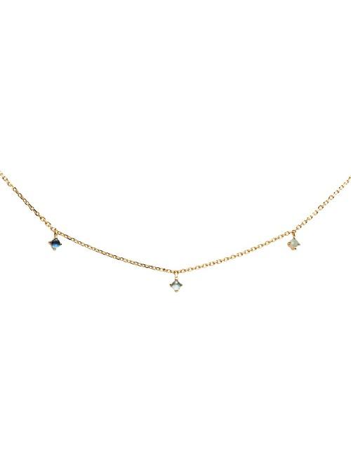 P D Paola Collar Navy Gold