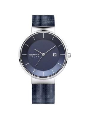 Bering, reloj clásico solar unisex azul