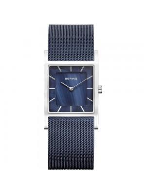 Bering, reloj minimalista para mujer cuadrado azul