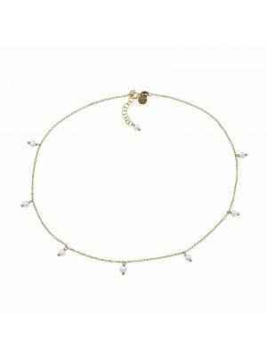 Gargantilla Pearl en plata dorada de Duran Exquse