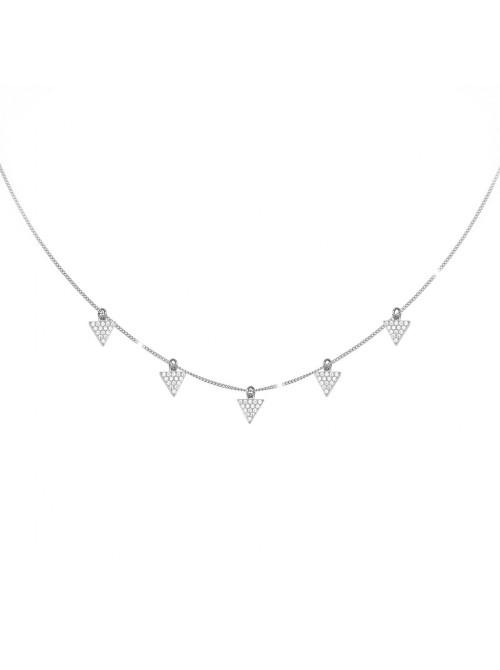 Rebecca, collar en plata con triángulos en pavé de circonitas