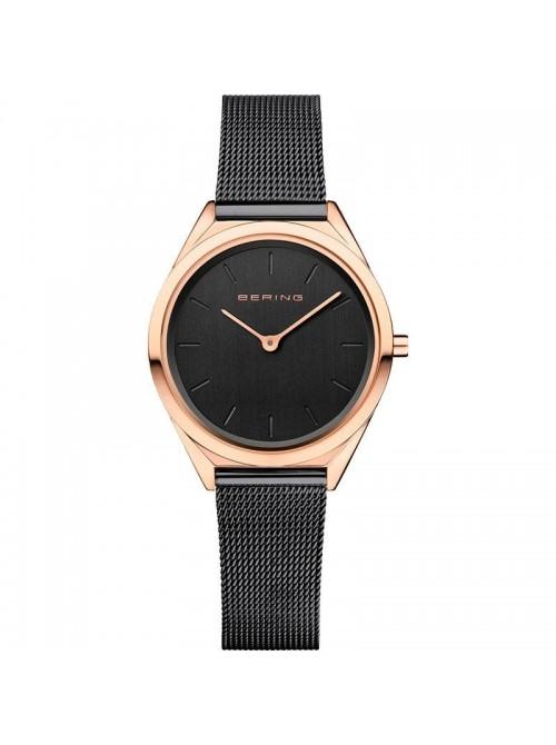Bering, reloj Ultra Slim de mujer negro