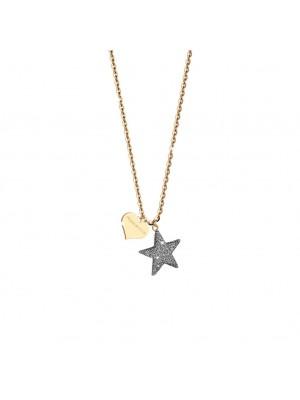 Rebecca, collar en plata chapada con estrella y micro diamantes