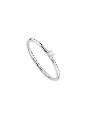 Itemporality anillo solitario Garra plata
